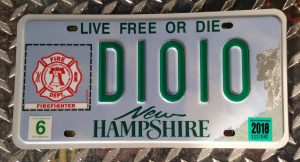 Nh Firefighter License Plates New Hampshire State Firemens Association